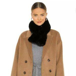 Jocelyn Faux Fur Black Pull Through Scarf
